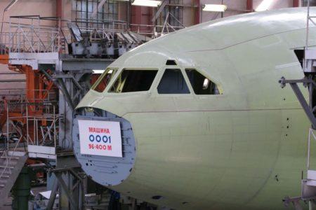 Detalle del ,morro de la nueva variante del Il-96.º