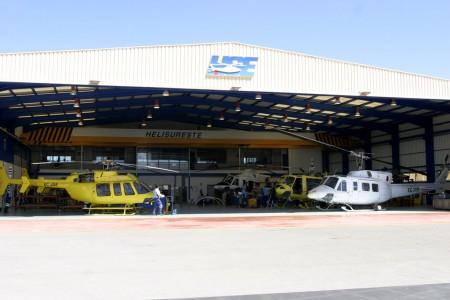hangar de INAER en Alicante