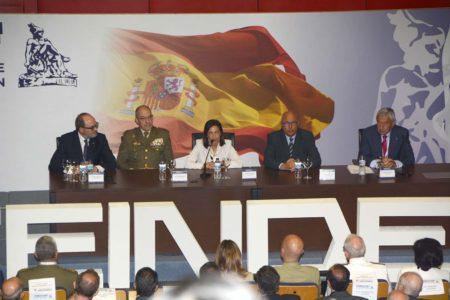 Inaugiración de FEINDEF 2019 en la que la industria española de Defensa, incluido el sector aeroespacial mostró sus programas futuros.
