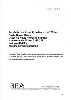 Pincha sobre la foto para leer en español el informe preliminar elaborado por BEA France.