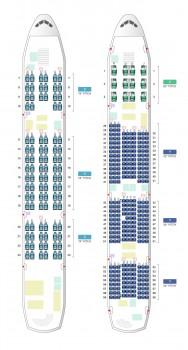 Plan de asientos del A380 de Korean Air