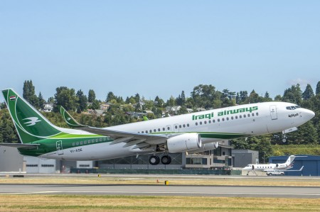 Iraqi Airways recibe su primer Boeing 737-800