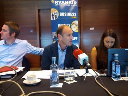 Kenny Jacobs durante su presentación en Madrid de las novedades de Ryanair