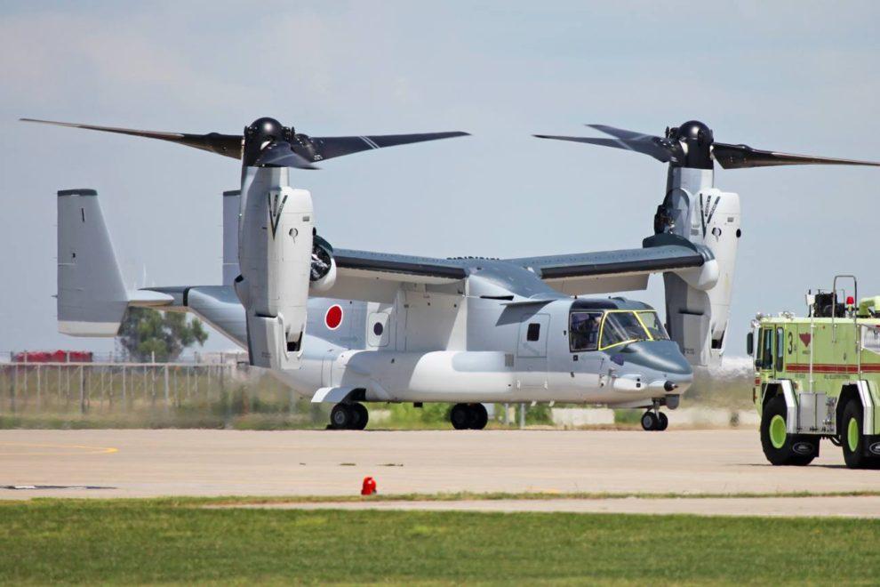 Primaro de los dos V-22 ya entregados a Japón. El próximo usuario podría ser Indonesia.