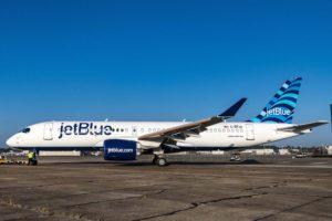 El primero de 70 Airbus A220 para JetBlue comenzará sus servicios comerciales a principios de 2021-