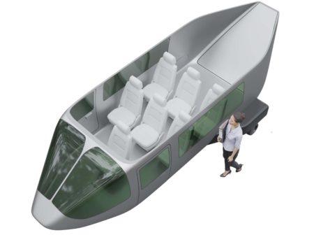 Aspecto que ofrecerá la cabina del JETcopter, con su rampa trasera para el equipaje o carga.
