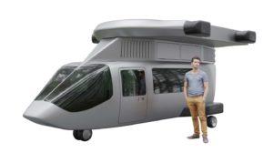 El nuevo diseño del JETcopter ha sido hecho pensando en su uso en carretera.