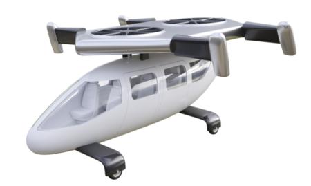 El diseño original del JETcopter con su tren fijo de gran vía y su sistema motriz lo hacía poco apto para circular en tierra.
