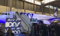 Presentación del primer Airbus A320 de Joon en París.