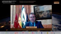 Juan Espadas, alcalde de Sevilla, durante su intervención en la inauguración del 1st Space & Industrial Economy 5.0 Sevilla Virtual Summit.