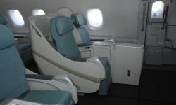 La clase ejcutiva tiene sus asientos en configuración 2-2-2.