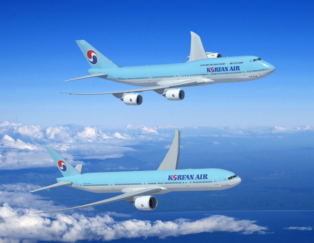 Boeing 747-8 y B-777-300ER de Korean Air