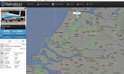 Recorrido sobre Holanda en el que participó Fly News visto en Flightradar 24.