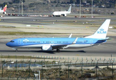 El último Boeing 737-800 entregado a una aerolínea en una de sus primeras visitas a Madrid.