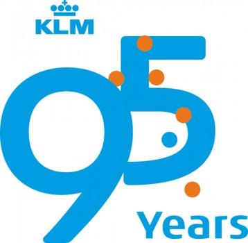 Logotipo de los 95 años de KLM