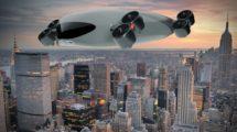 Propuesta de Kelekona para un aerobus EVTOL para movilidad urbana.
