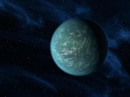 Dibujo de cómo podría ser un planeta extrasolar