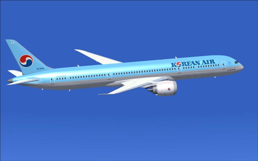 Korean Air firmó con Boeing la compra de diez B-787-9 Dreamliner el 31 de mayo de 2005.