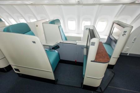 Asiento Prestige del Boeing 747-8I de Korean Air.