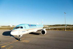 HL8092, el primer Bombardier CS300 de Korean Air poco antes de entrega.