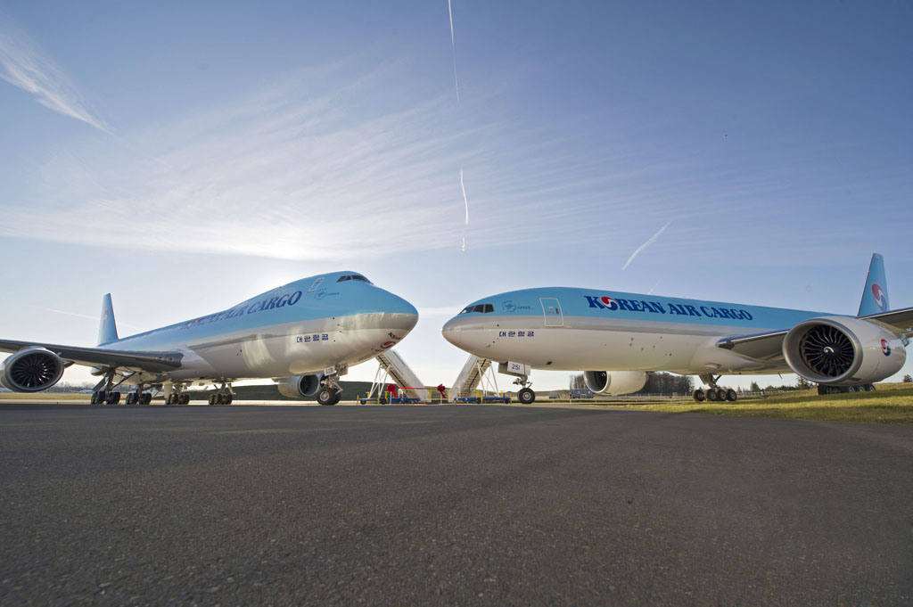 Boeing 747-8F y Boeing 777F de Korean Air