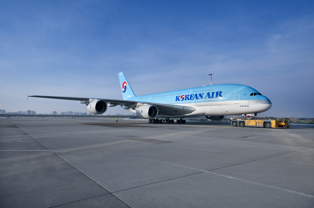 Primer Airbus A380 de Korean Air listo