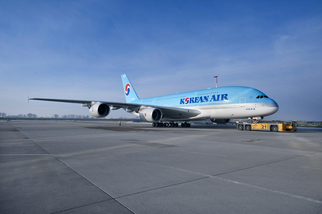 Primer Airbus A380 de Korean Air listo