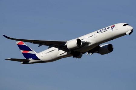 Uno de los cuatro Airbus A350 de LATM operados por Qatar Airways.