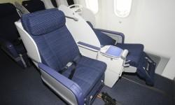 Los asientos de la business de medio recorrido no se convierten en cama