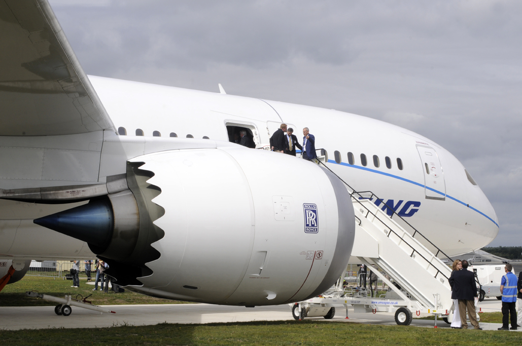 B-787 Dreamliner en Farnborough
