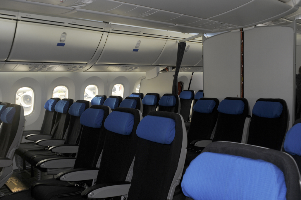 Interior del B-787 Dreamliner