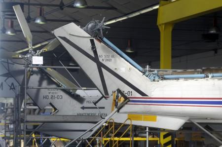 Helicópteros en la base aérea de Cuatro Vientos