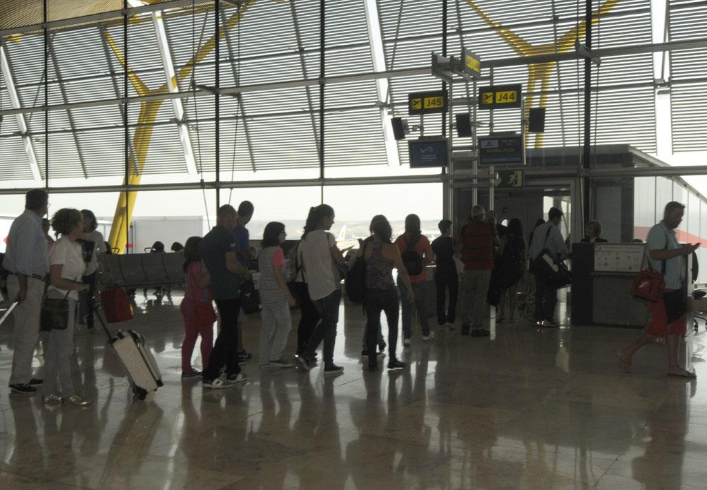 Embarque en el aeropuerto de Madrid Barajas
