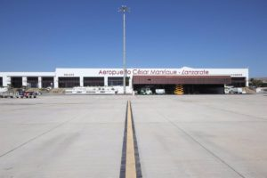 La Terminal 2 aeropuerto de Lanzarote es la última en haber sido reabierta por Aena.
