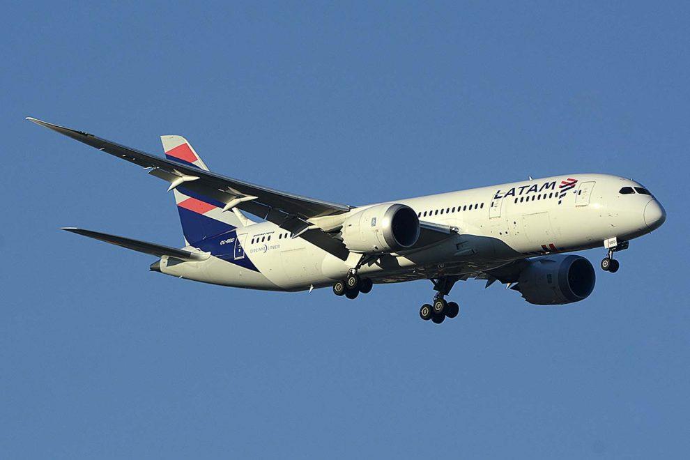 Boeing 787-8 que Latam usará en sus vuelos de Santiago a Frankfurt.