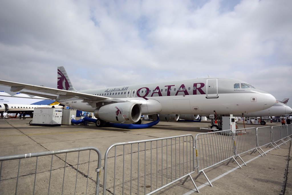 Airbus A320 de Qatar Airways con configuración sólo business.