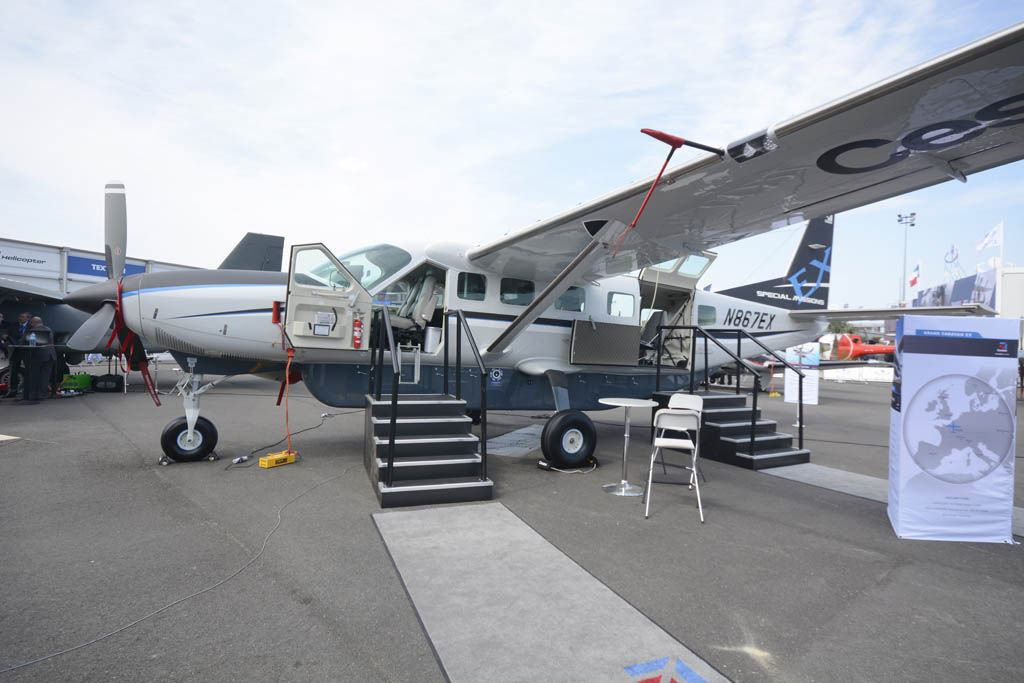 Cessna apostó por mostrar en Caravan en versión utilitaria.