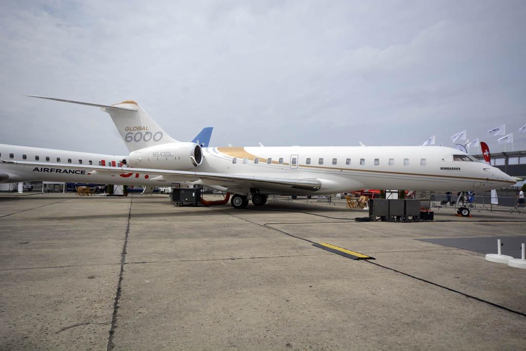 Bombardier sólo llevó este Global 6000 de toda su gama de aviones ejecutivos.