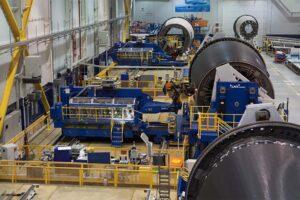 Prducción de secciones del fuselaje del Boeing 787 por parte de Leonardo en Italia.