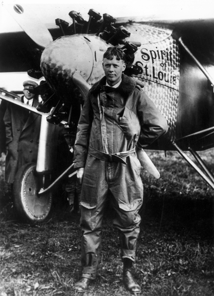 Lindbergh con el Spirit of Saint Louis