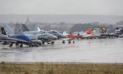Aviones de la línea de vuelo y exposición estática de Aire 75
