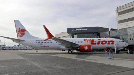 Boeing 737 MAX 9 de Lion Air en el centro de entregas de Boeing antes de la paralización de estas.º