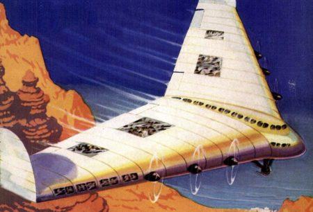 Propuesta de Lockheed en 1938 de un ala volante para pasajeros.