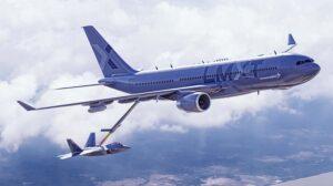 Ilustración del Airbus A330MRTT bajo la denominación LMXT.