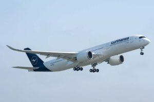 Lufthansa opera ya 12 Airbus A350 principalmente desde el aeropuerto de Munich.