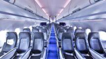 La cabina Airspace del nuevo Airbus A321neo de Lufthansa.