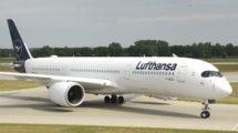 Airbus A350-900 de Lufthansa como el que se usará en el vuelo a las islas Falklands.