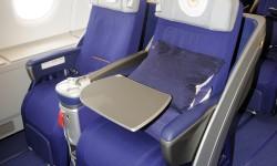 Los asientos de Business son los mismos que ya empleaba Lufthansa en sus otros aviones de largo recorrido