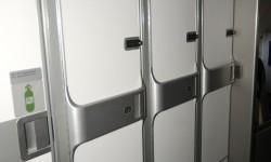 Cada pasajero de primera clase dispone de un armario con llave para abrigos y otros objetos personales