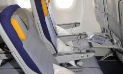 Los asientos de turista del A380 de Lufthansa ofrecen una adecuada comodidad